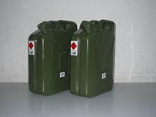 Benzinkanister Metallkanister 20 Liter - 2 Stück -  2 x 20 Liter Kanister
