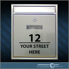 Mailbox Post Custom Vinyl Sticker Lettering House Number & Street Address Decal