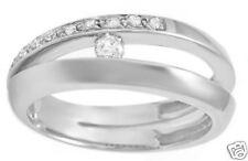 Unique Genuine Diamond Ring 14K Solid White Gold
