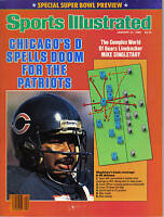 1986 (Jan. 26) Sports Illustrated, Football, Mike Singletary, Chicago Bears ~GLR