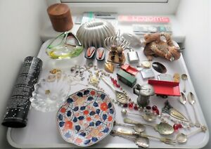ANTIQUES / COLLECTABLES HOUSE CLEARANCE SWATCH SILVER PLATE JEWELLERY LOT