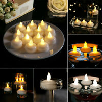 Flameless Floating LED Candle Tea Light Tealights Battery Operated Flickering vi
