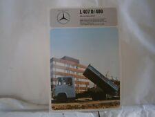 Catalogue voiture pub auto prospectus Camion Mercedes Benz L407D/409 benne