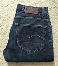 Mens G Star 3301 Loose indigo blue straight leg denim jeans W 32 L 30