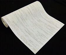 2409-65) 1 Rolle dicke Vinyl Schaum Tapete Putz WEISS und GRAU