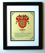 HERALDRY COAT OF ARMS ~ TRUJILLO  FAMILY CREST ~ FRAMED