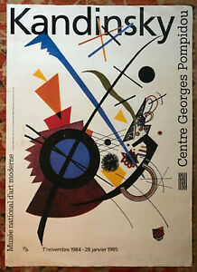 WASSILY KANDINSKY Musee National D'Arte Moderne Centre Georges Pompidou 1985