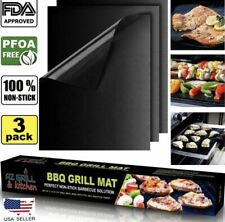 Bbq Grill Mat set of 3 sheets Reusable Non-stick Barbecue Grill mat Baking oven