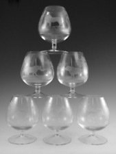 ROWLAND WARD Crystal - Brandy Glass Set (6) - Cut by Moser