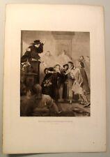 LOT 6 ANTIQUE 1880s GRAVURE GEBBIE HUSSON PRINTS ACTORS SHAKESPEARE Look!