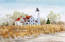 Iroquois Point Lighthouse on Lake Superior Spring View Great Lakes Michigan