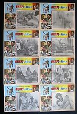 """""""SHAFT IN AFRICA"""" RICHARD ROUNDTREE KATHIE iMRIE LOBBY CARD SET UNUSED MEXICAN"""