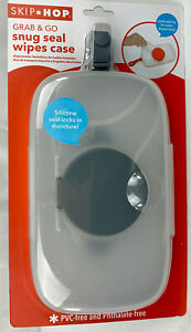 Skip Hop Grab & Go Snug Seal Wipes Case, Gray - Baby Wipes Dispenser - NEW