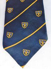 Macaseta Twinzine vintage tie Owl and scales Coat of arms law school university
