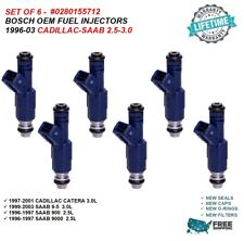 Set of 6 Bosch #0280155712 Fuel Injectors for Cadillac Catera Saab 9-5 900 2.5L