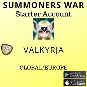 Summoners War Light Valkyria Akroma Starter Account
