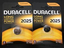 2XNew Duracell CR2025 3V Lithium Coin Cell Battery 2025 DL/BR2025 Longest Expiry
