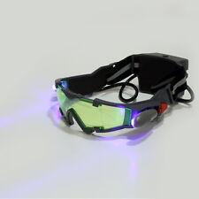 Green Lens Adjustable Elastic Band Night Vision Goggles Glasses eyeshield UL
