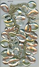 Gypsy / Belly Dance Chain Belt with Hand Polished Ovals, Circles, and Teardrops