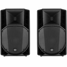 RCF Art 715a 715-a Mk4 Speakers Pair Inc Stands Bag and XLR Cables