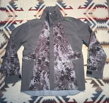 Huk Fishing All Weather Rain Jacket Men's Size XL X-Large Kryptek Raid Neon