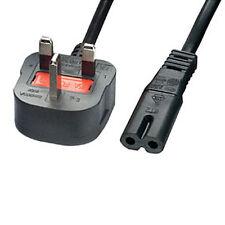QTY 5 - 5M FIGURE OF 8 (C7) POWER CABLE LEAD UK PLUG - LAPTOP, SKY BOX, PS2