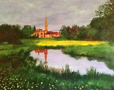"NEW DAVID ALDUS ORIGINAL ""St. John Church - Cotswolds, Burford"" IV OIL PAINTING"
