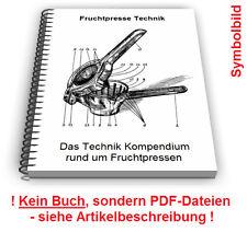 Fruchtpresse selbst bauen - Frucht Presse Technik Patente Patentschriften