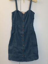 Anthropologie Pilcro and the Letterpress Denim Sleeveless Dress Size 4