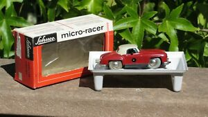 SCHUCO 1044 MICRO RACER MERCEDES 190SL RED TAN WEST GERMANY w/ Box