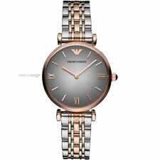 Emporio Armani AR1725 Ladies Grey and Rose Gold Gianni Watch