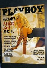 FARRAH FAWCETT AUTOGRAPHED PLAYBOY  July 1997 mag cover - Personalized to Doug