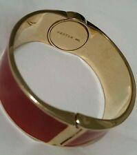 💕💕💕OROTON Signature  CRESCENDO ENAMEL M/L RED  Logo Gold Bangle RRP $145.00