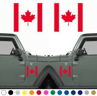 Set of 2 Canadian Flag Decal Sticker LEFT RIGHT Side MANY SIZES COLORS V2