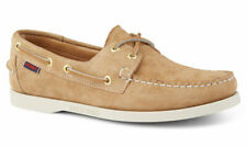 Mens Sebago Docksides Portland Suede Deck Shoes Beige UK 10.5 US 11 EU 45  £115