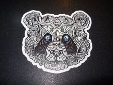 "MANIK APPAREL Art Sticker 3"" PANDA BlackWhite skate skateboard from poster print"