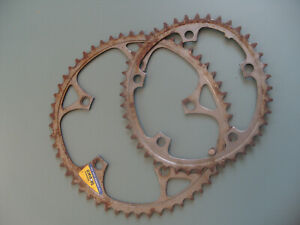 Vintage Shimano Biopace chainrings 52/42 t