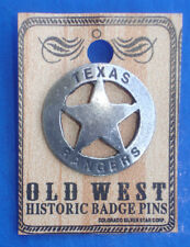 Western Antiqued Silver Texas Rangers Hat Pin/Tie Tack/Lapel Pin