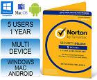 Norton Internet Security 3.0 Deluxe Multi Device 5 Users 1 Year Antivirus 2017