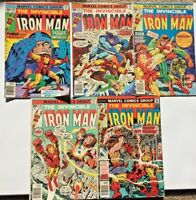 The Invincible Iron Man Comic issues #90 #91 #92 #93 #94 1976 Marvel Bronze Lot
