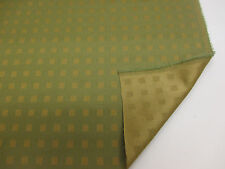 Gold & Green Squares,Olympic Wool/Silk Blend Curtain Fabric. Made In England.
