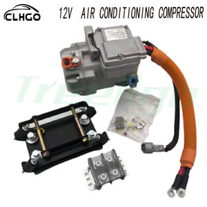 Portable 12v Electric Car Compressor R134a Ac with Kit 1.95kw Power