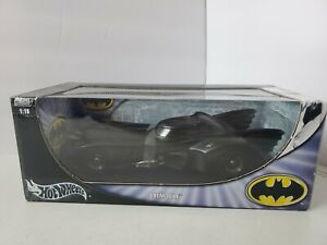 1989 BATMOBILE 1/18 Scale Hot Wheels Keaton Batman #B-6046, 2003