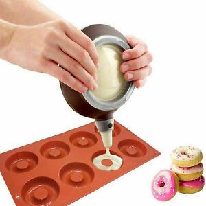*UK Seller* Silicone Donut Circle Mould Chocolate Sweet Ice Tray Cake Baking