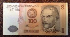 Peru Banknote. 100 Intis. Dated 1987. Pick 133. Peruvian.