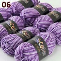 AIP New 8Skeinsx50g Soft DK Baby Cotton Crochet Yarn Hand Wool Scarf Knitting 06