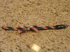 NEW! Apt. 9 Orang and Gray Striped Adjustable Mens Bow Tie MSRP $34.00