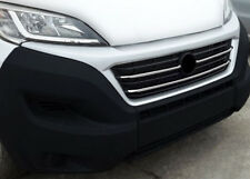 Chrome Front Grille Trim Accent Covers Set To Fit Fiat Ducato (2014+)