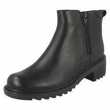Girls Clarks Zip Up Casual Boots Frankie Roam