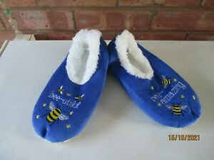 Snoozies! Pairables Slipper Bee-Utiful - Bees Size Medium - 5-6  – New
